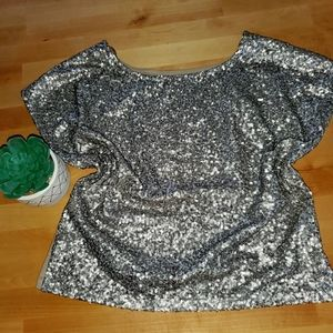 Night out sparkling blouse. (Camisa de noche)